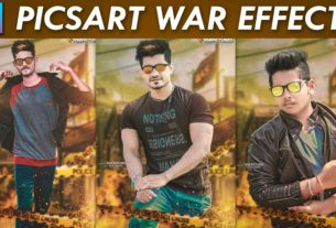 picsart war effect editing tutorial