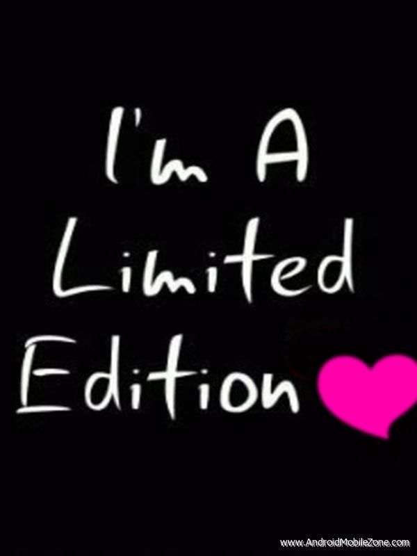 i am limited edition text png
