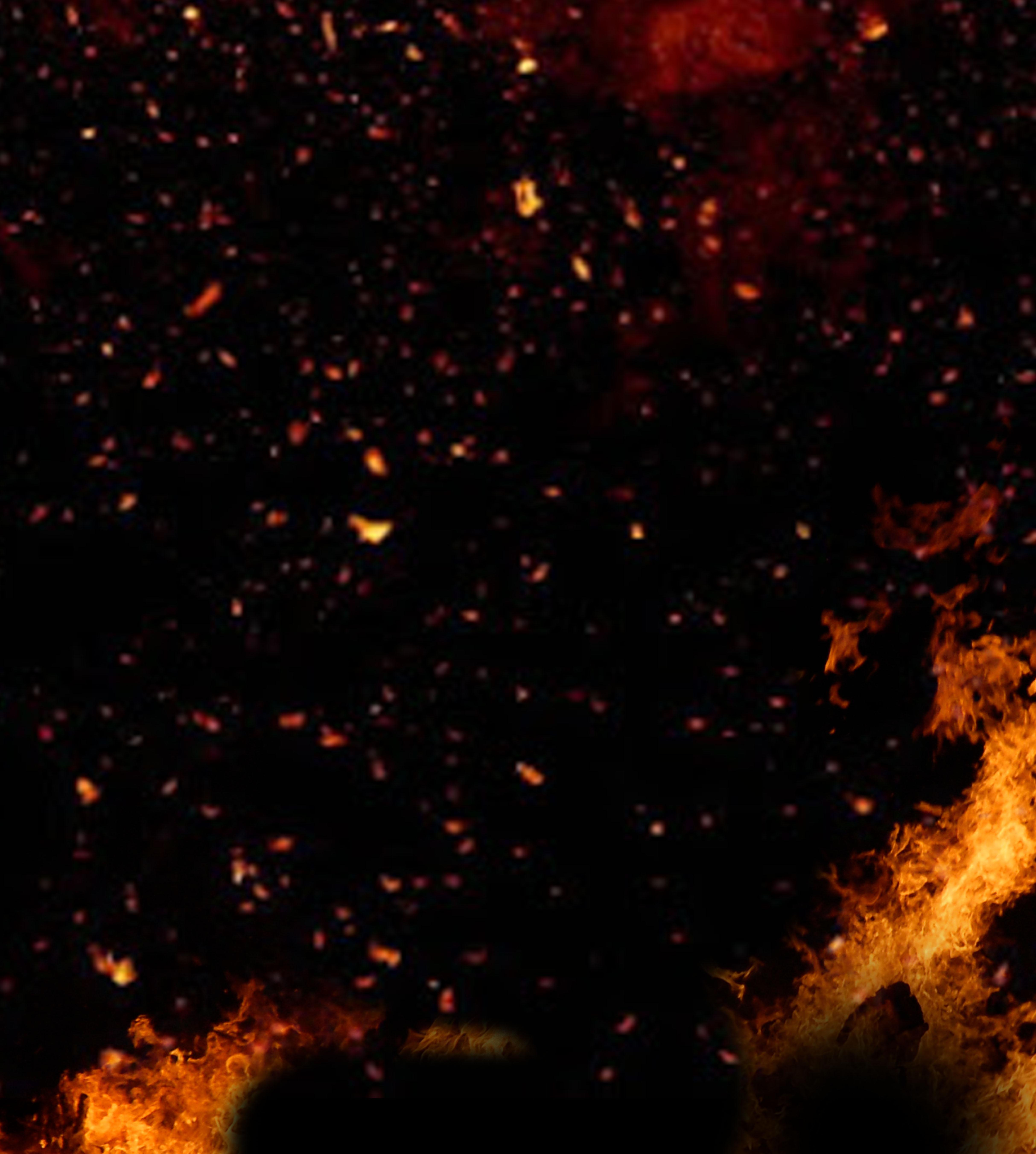 fire overlay sparks