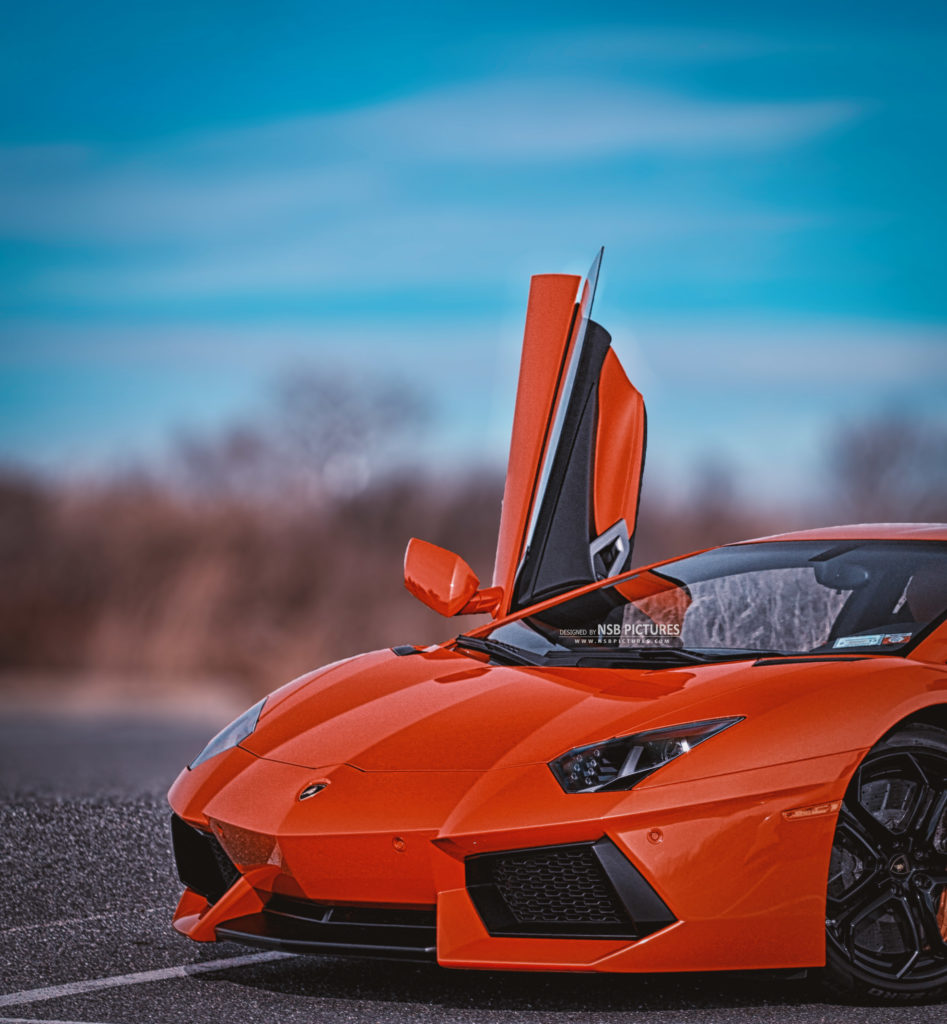 boy with lamborgini photo editing