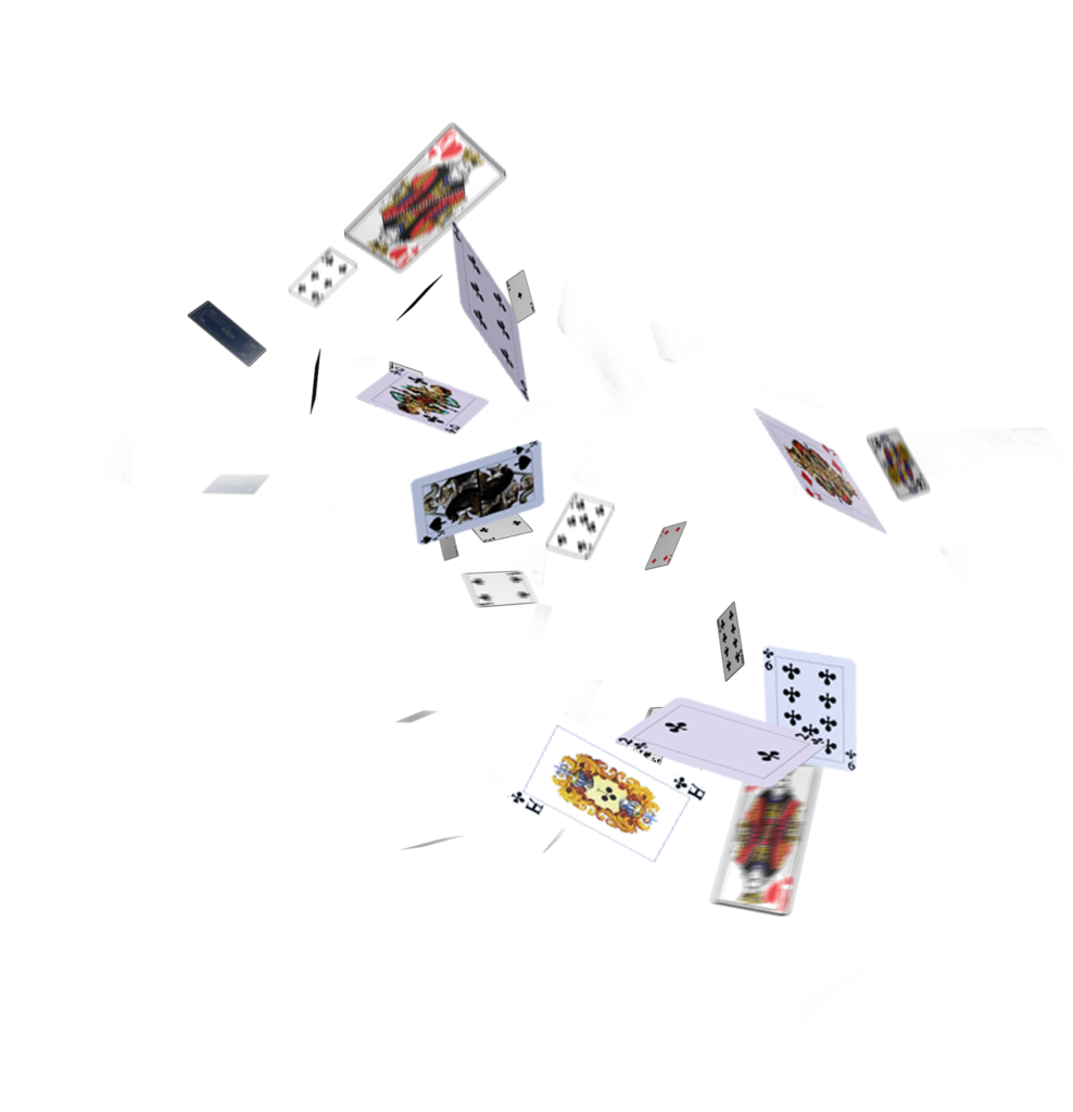 cards flying png