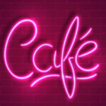 neon light text png