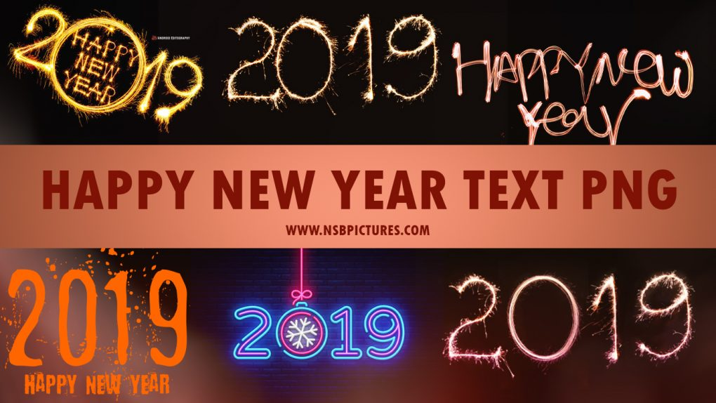 New year text png - 2019 Happy new year text png download [FREE]