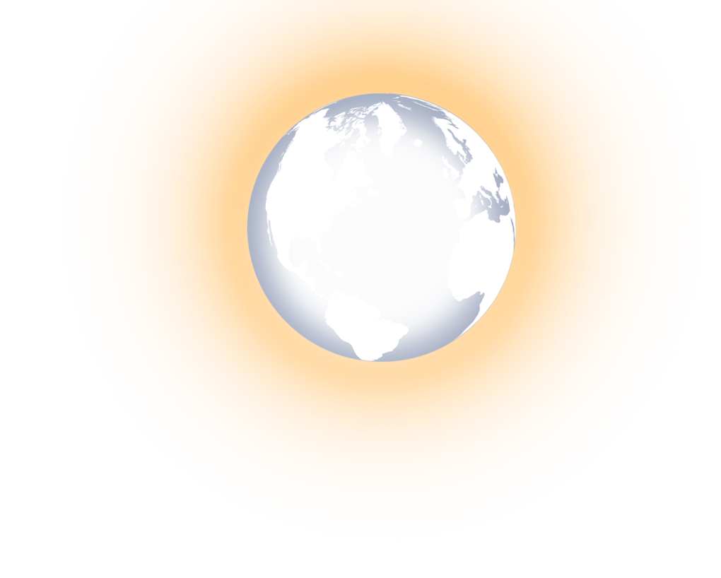 white earth glowing png