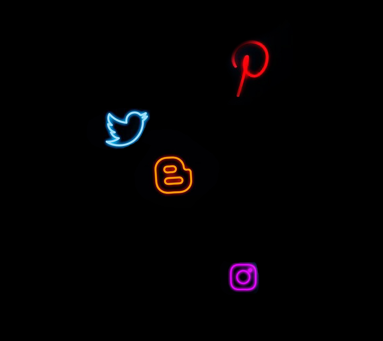 neon social icon