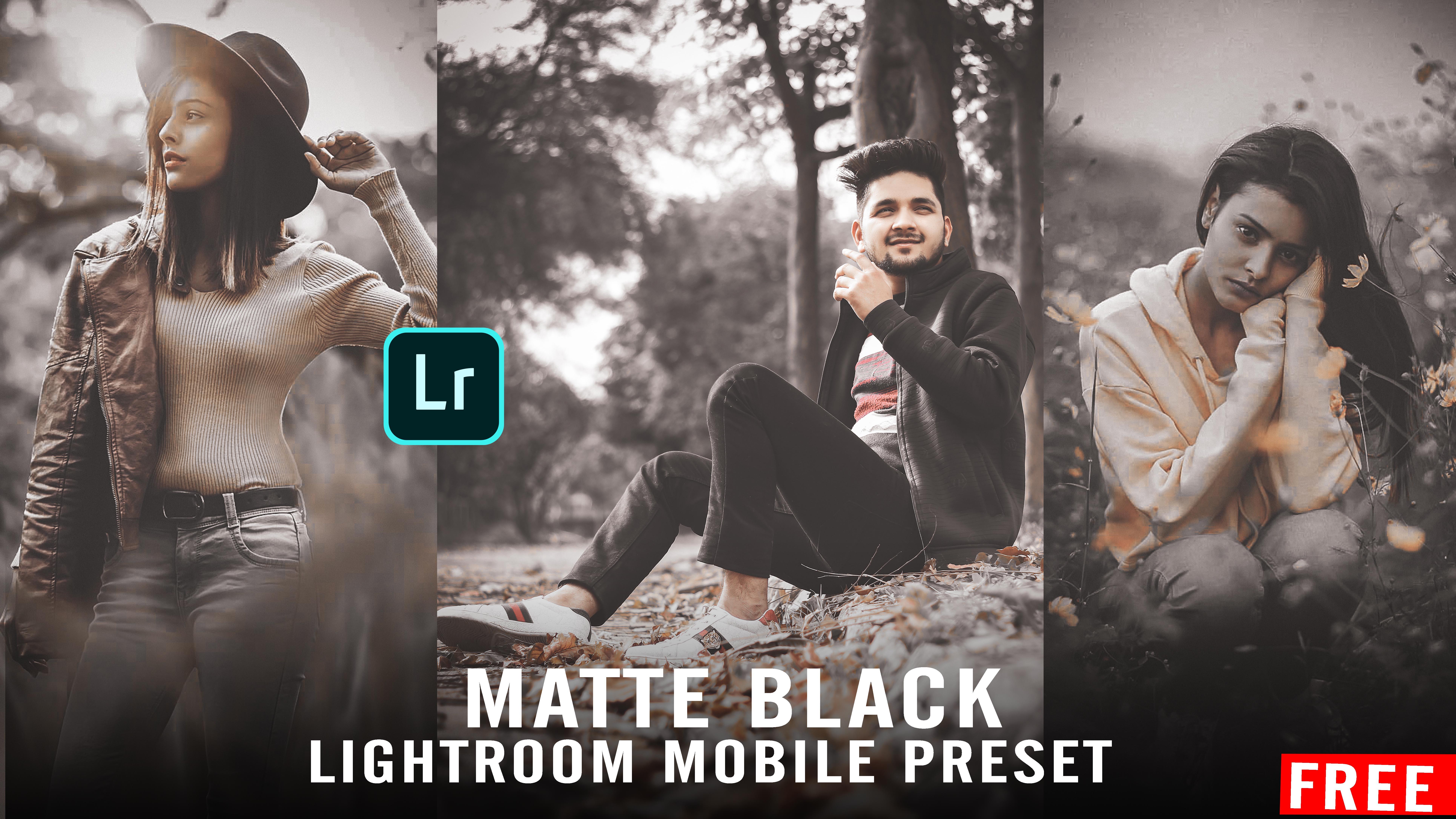 matte black lightroom preset - free lightroom mobile moody preset