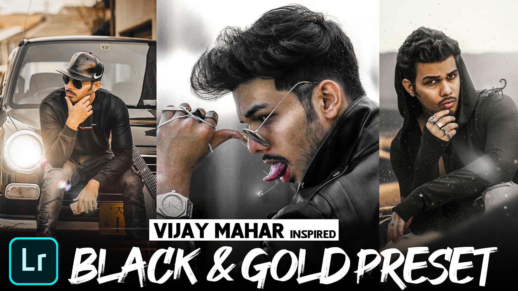 black & gold Lightroom presets download - FREE Lightroom mobile preset