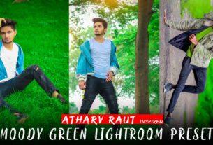 Moody green lightroom preset