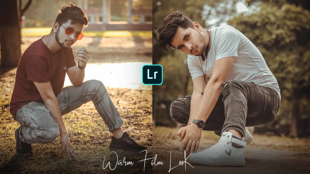 warm film look Lightroom mobile preset Free download