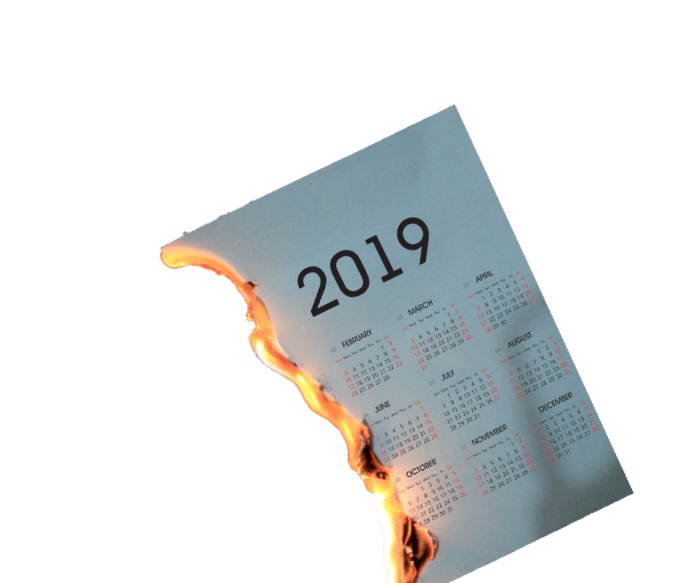 2019 burning calender png