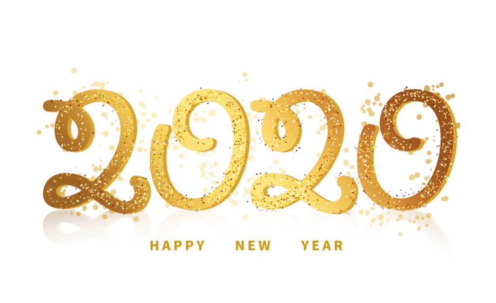 Happy new year 2020 png Download - HD Text PNG FREE