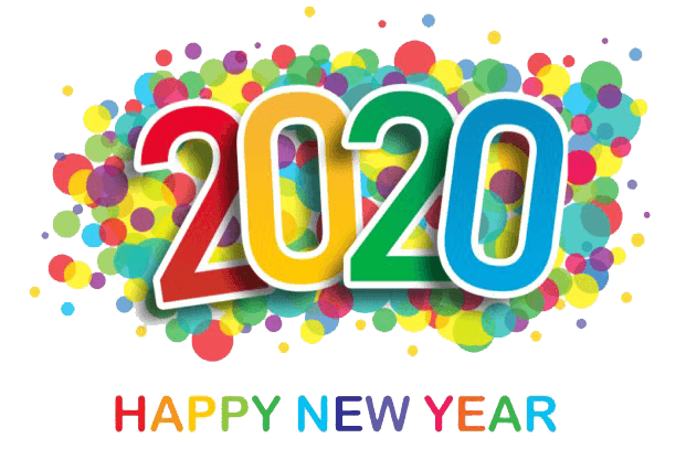 happy new year 2020 text png (4)