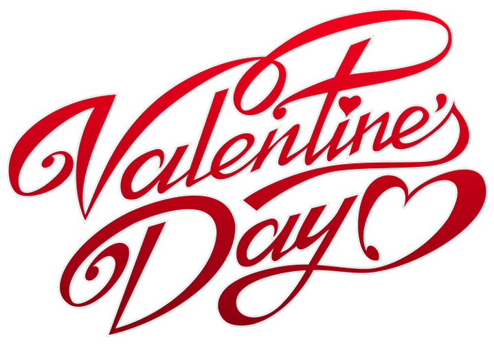 Valentines day text png image transparent 1