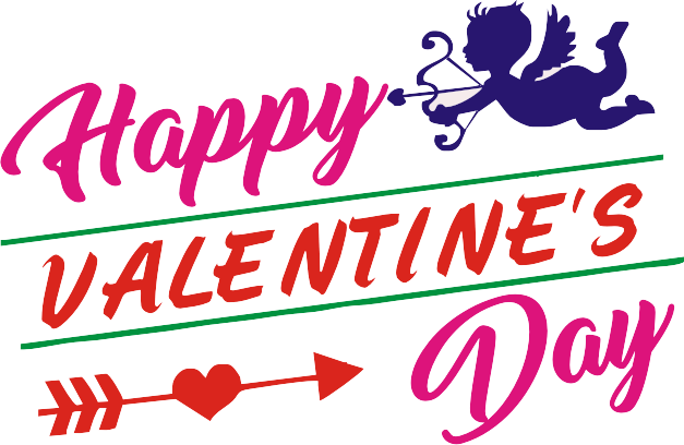 Valentines day text png image transparent 10