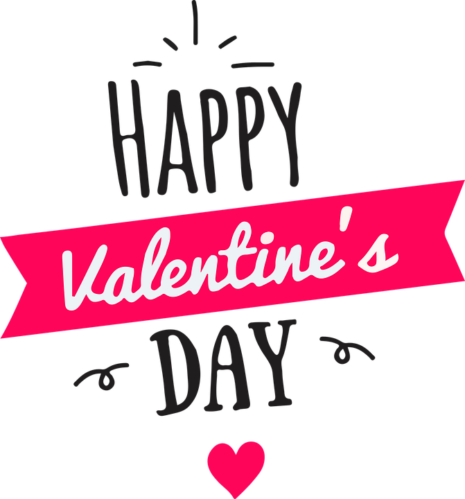 Valentines day text png image transparent 12
