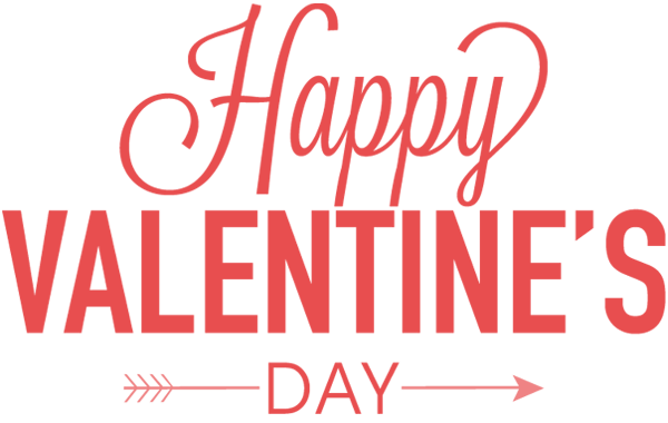 Valentines day text png image transparent 3