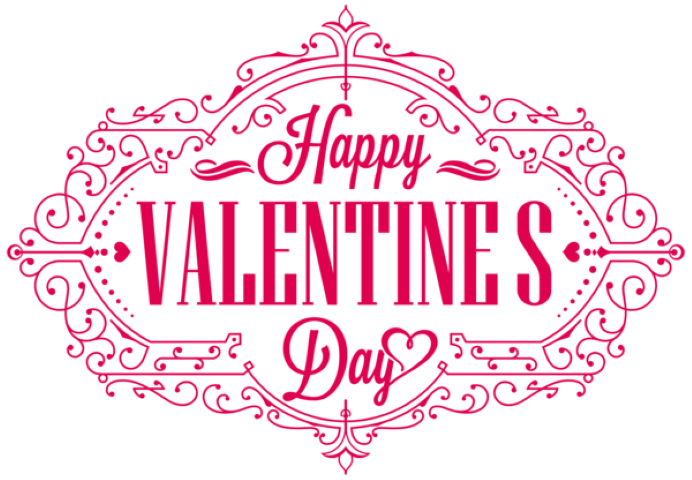 Valentines day text png image transparent 9