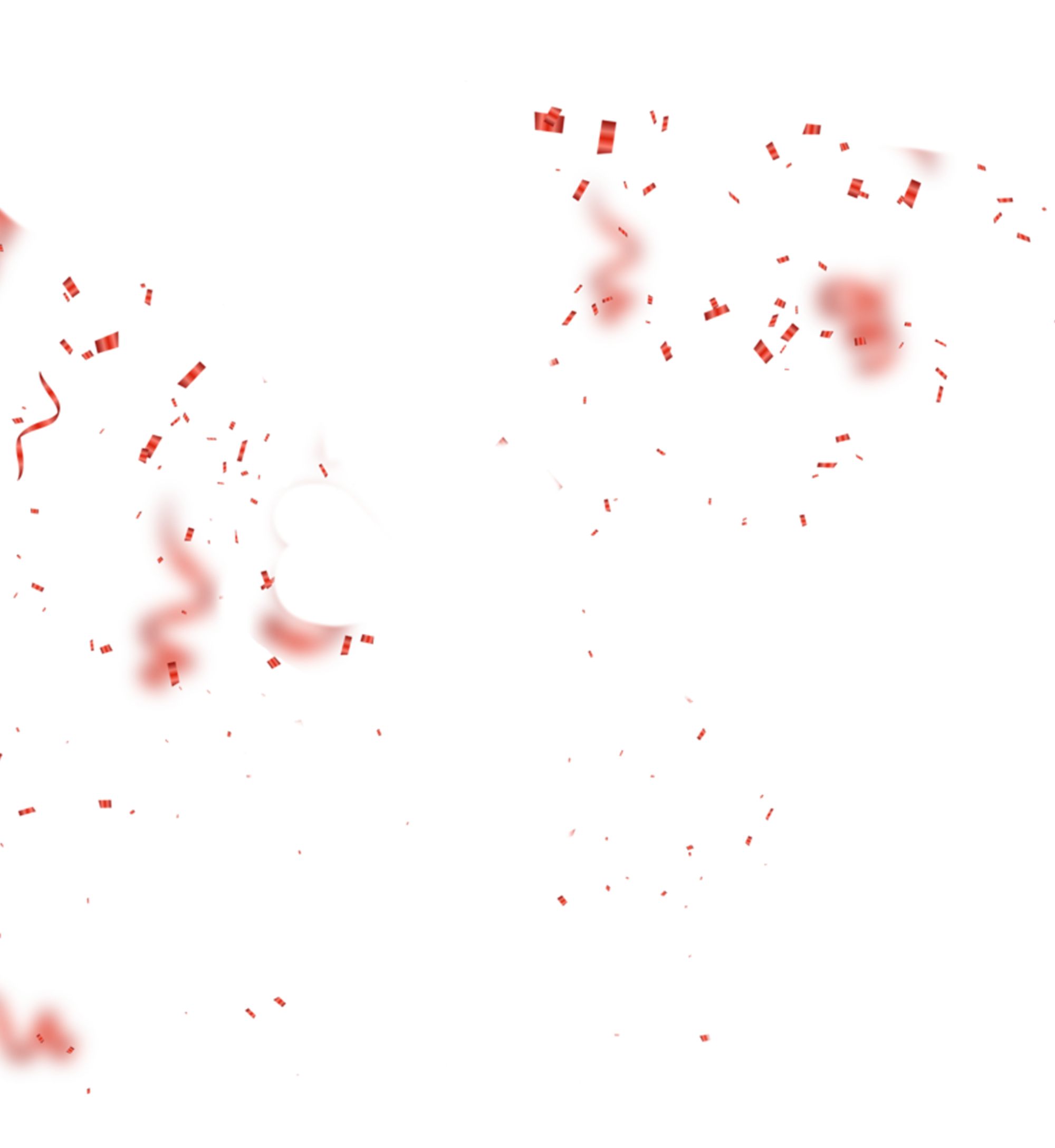red sparkles droping png