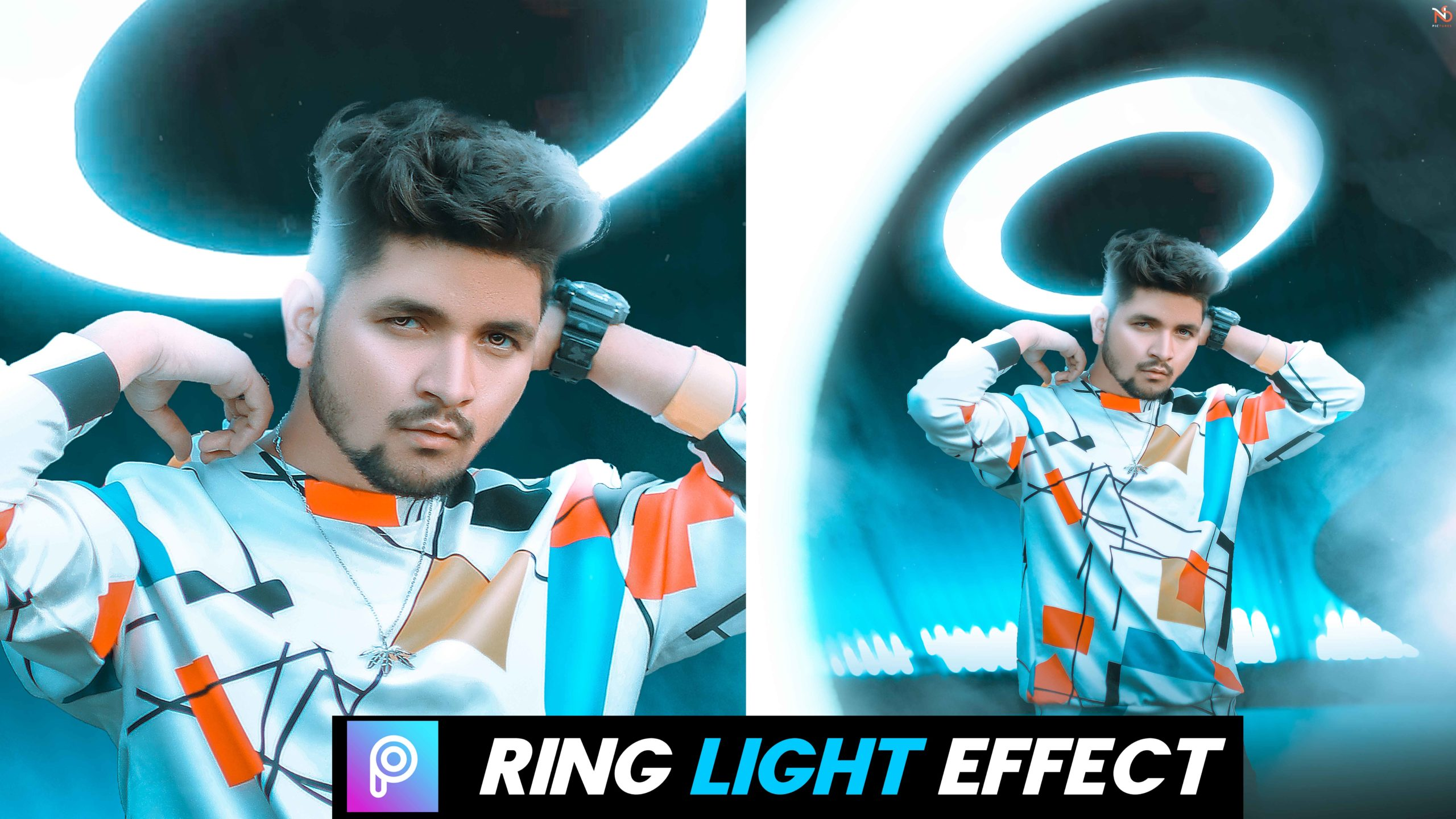 Ring light manipulation background editing download HD