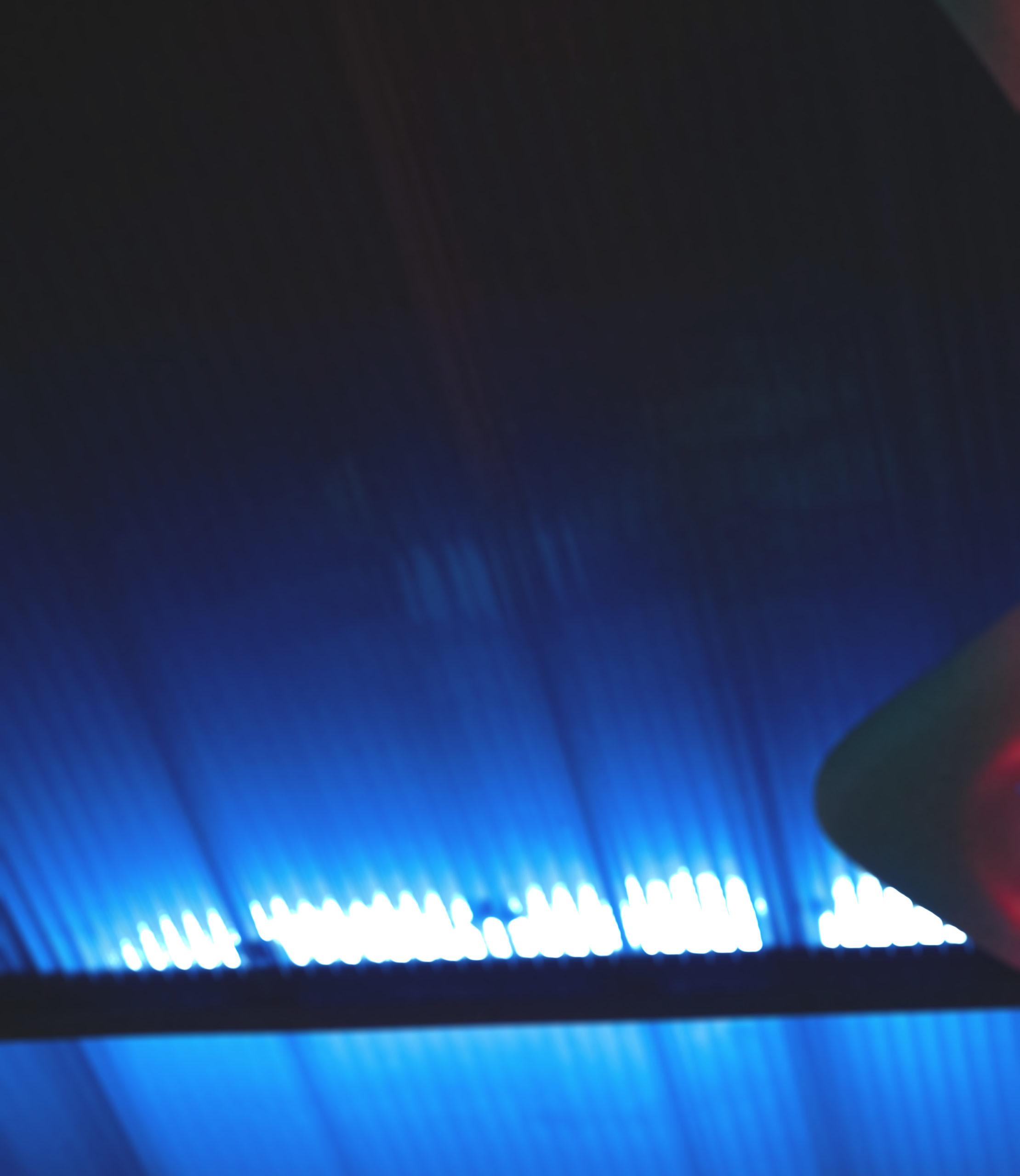 blue led background