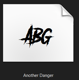 another danger font