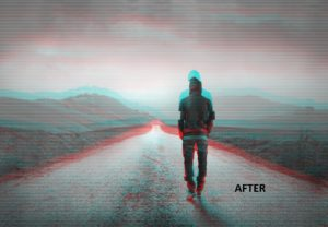 Movee animate your photo with vhs glitch graphics