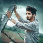 Rainy effect photo